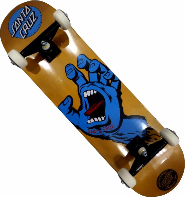 Skate Santa Cruz Montado Completo Profissional Hand Metalic Intruder Next Fcr Visible Dourado