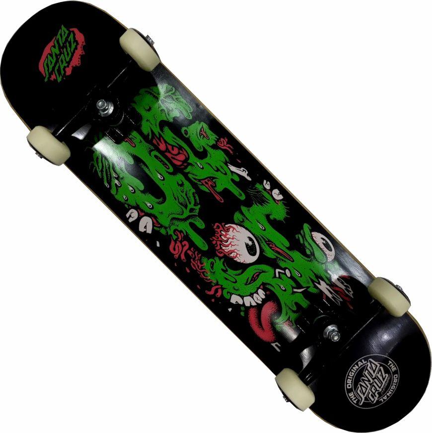 Skate Santa Cruz Montado Completo Profissional OG Stick FCR Next Preto/Verde