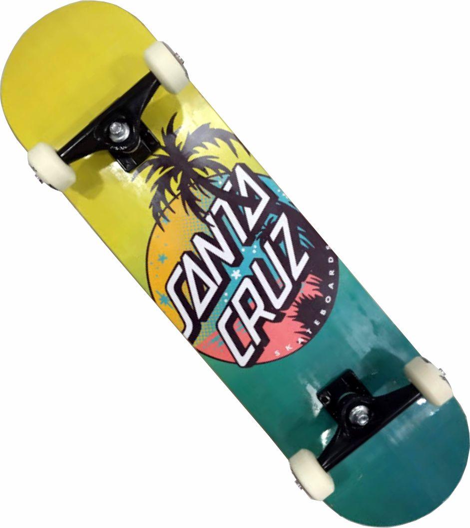 Skate Santa Cruz Montado Completo Profissional Palm Dot Reds Bones Next Stick Visible