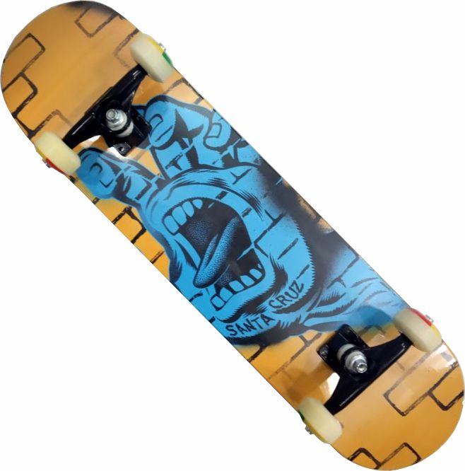 Skate Santa Cruz Montado Completo Profissional Spray/Parts/Reds Bones
