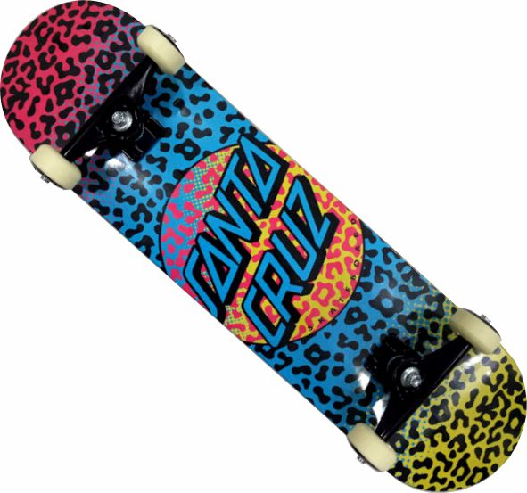 Skate Santa Cruz Montado Completo Prowl Stick Black Sheep Abec 11