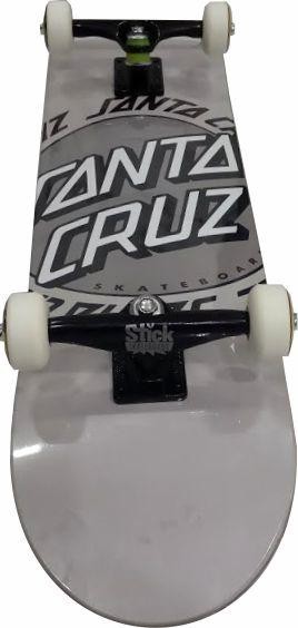 Skate Santa Cruz Montado Completo Ringet Dot Stick Abec 11
