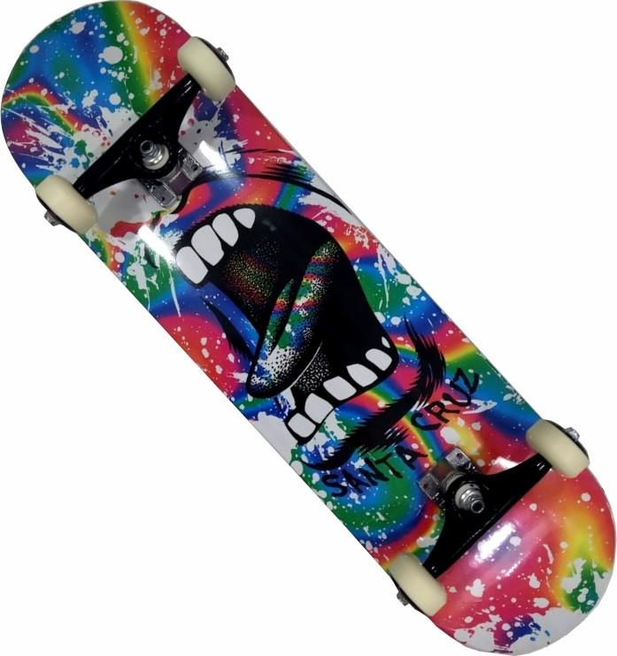 Skate Santa Cruz Montado Completo Splatter Next Stick Visible FCR