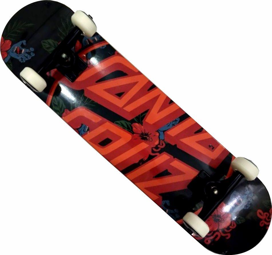 Skate Santa Cruz Montado Completo Vacation Reds Bones Metallum Next Preto Logo