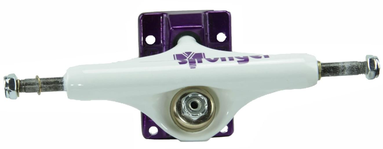 Truck Stronger de Skate Branco/Roxo