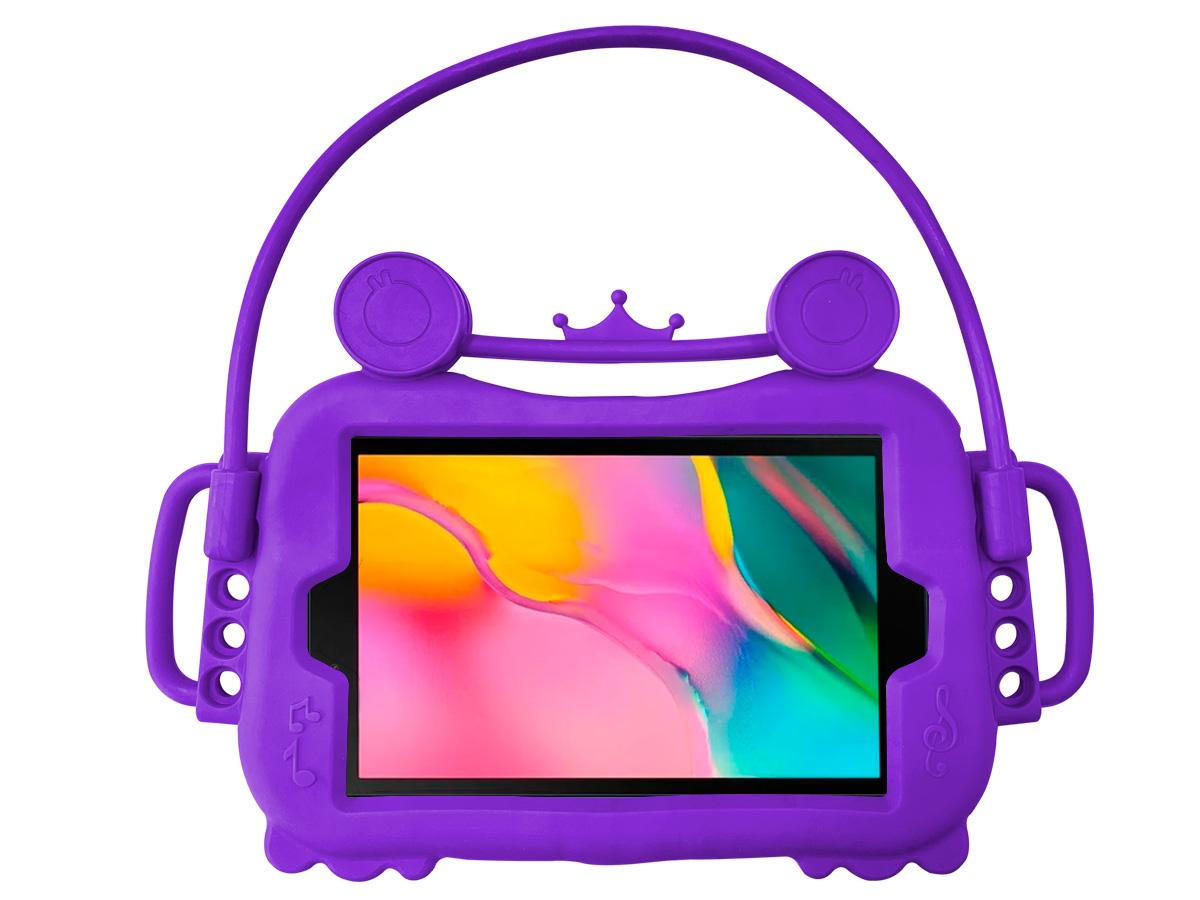 Capa Capinha Infantil Galaxy Tab A T290 T295 8 Polegadas Alça Suporte Veicular Silicone + Pelicula