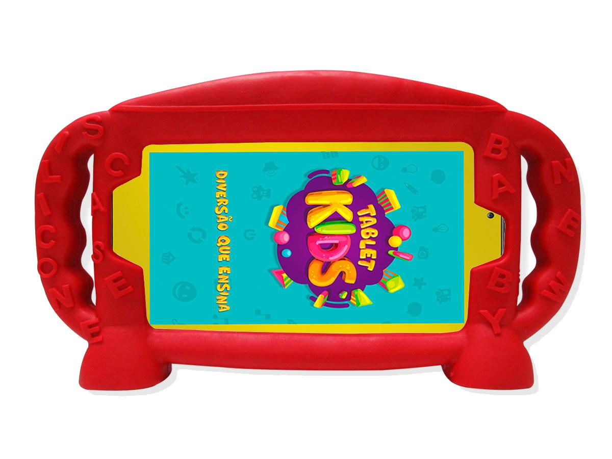 Capa Infantil Tablet DL Kids C10 TX394BBV Creative Tab TX380 Mobi Tx384 Case Silicone 7 Polegadas