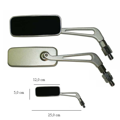 Espelho MG 10mm - Universal (o Par)  - Nova Centro Boutique Roupas para Motociclistas
