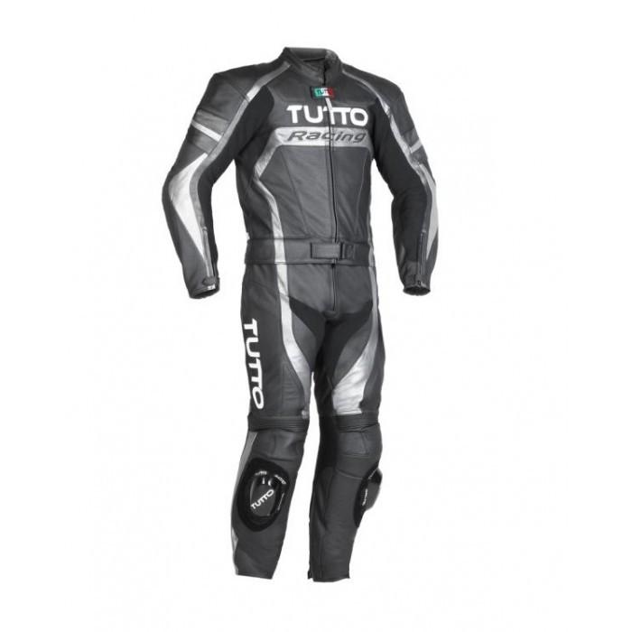 Macacão Tutto Moto Racing 2 peças Cinza  - Nova Centro Boutique Roupas para Motociclistas