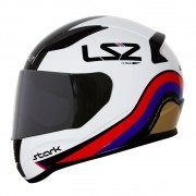 Capacete LS2 FF353 Stark - Branco/Vermelho/Azul