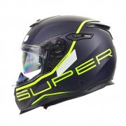 Capacete Nexx SX100 Super Speed Azul c/ Verde + Pinlock