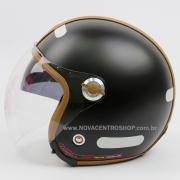 Capacete Nexx X70 Groovy Preto Fosco Camel Tri-Composto - Aberto