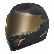 Capacete Nexx XR2 Carbon Golden Edition Preto/Dourado - brinde Viseira espelhada e pinlock