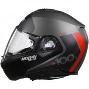 Capacete Nolan N100-5 Plus Distinctive - Preto/Cinza/Vermelho - c/ Viseira Interna - Escamoteável