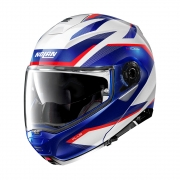 Capacete Nolan N100-5 Plus Overland - Branco/Azul/Vermelho (35) - c/ Viseira Interna