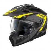 Capacete Nolan N70 2x - Grandes Alpes - Cinza Amarelo Fosco