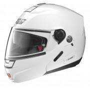 Capacete Nolan N91 Evo Classic Branco Escamoteável C/ Viseira Solar Interna - Ganhe Touca Balaclava