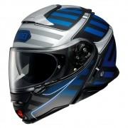 Capacete Shoei Neotec 2 - Splicer - TC-2 - Preto/Cinza/Azul - Escamoteável