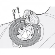 Flange Givi P/ fixação de bolsas tanklock GIVI BF07 BMW R1200GS (2008)