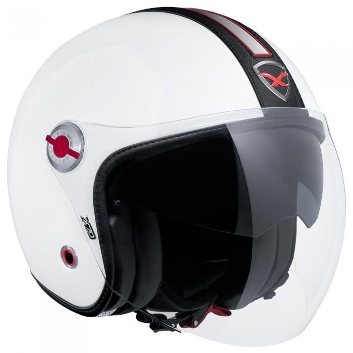 Capacete Nexx X70 Groovy Branco/Preto Tri-Composto - Aberto  - Nova Centro Boutique Roupas para Motociclistas