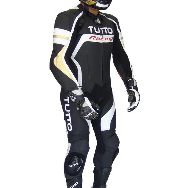 Macacão Tutto Moto Racing 1 peça Branco c/ Dourado  - Nova Centro Boutique Roupas para Motociclistas