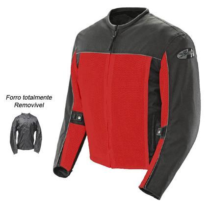 0 Jaqueta Joe Rocket Velocity Vermelha - Ventilada e Impermeável   - Nova Centro Boutique Roupas para Motociclistas