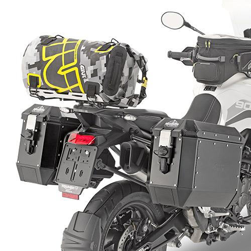 Bolsa Givi Cilindrica Impermeável EA114CM - 30LT - ESTAMPA DE CAMUFLAGEM CINZA E AMARELO  - Nova Centro Boutique Roupas para Motociclistas