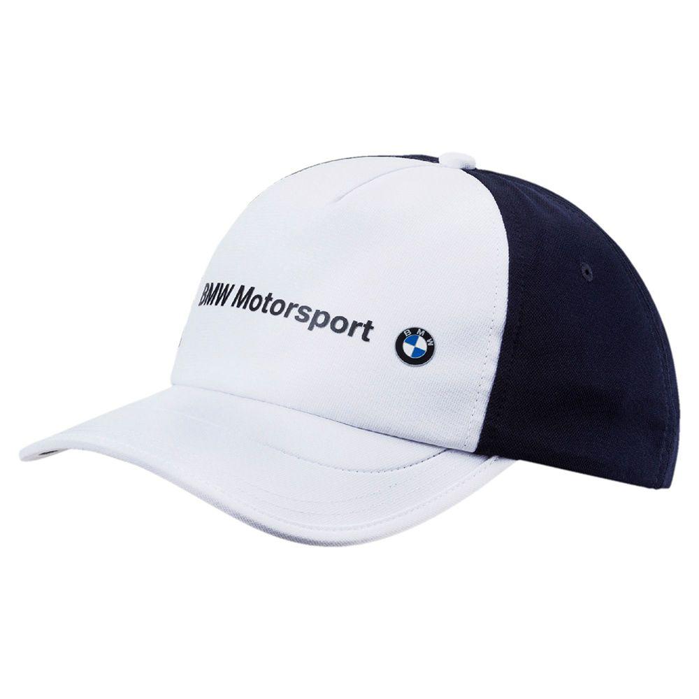 Boné BMW Motorsport BB Puma Branco Oficial  - Nova Centro Boutique Roupas para Motociclistas
