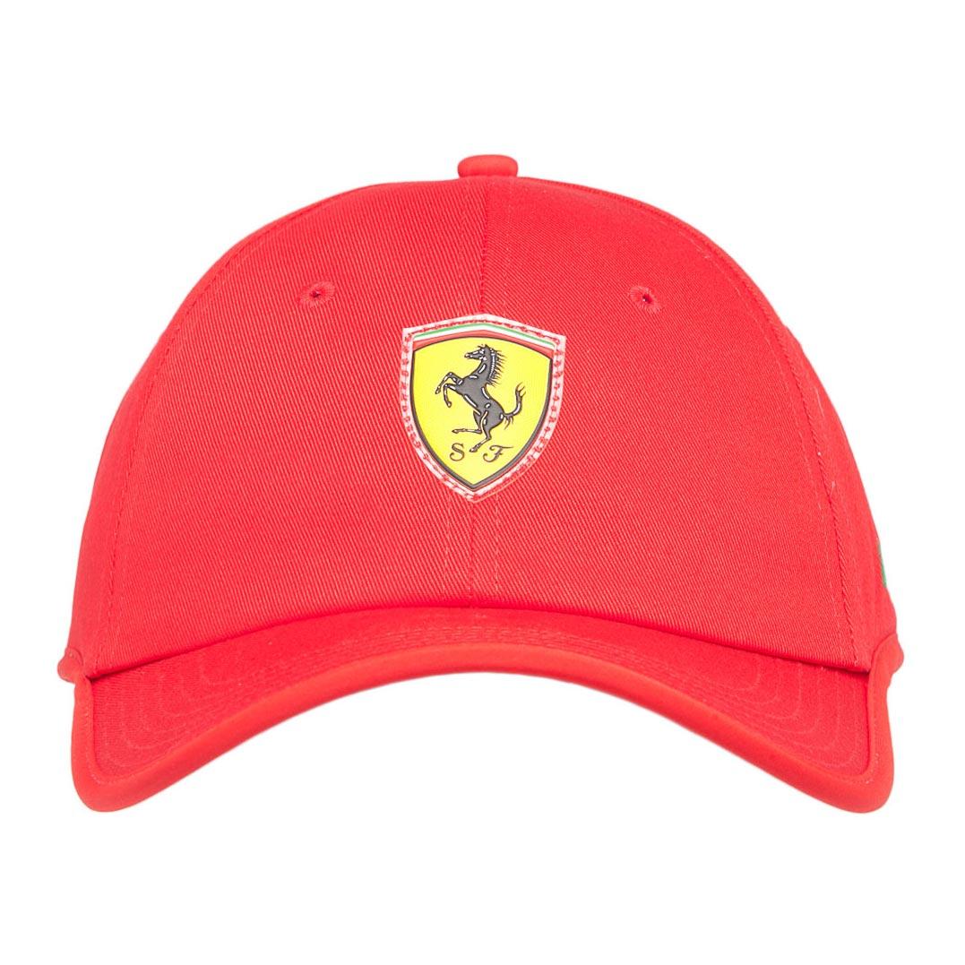 Boné Puma STYFR Ferrari Fanwear Baseball Cap (Vermelho)  - Nova Centro Boutique Roupas para Motociclistas