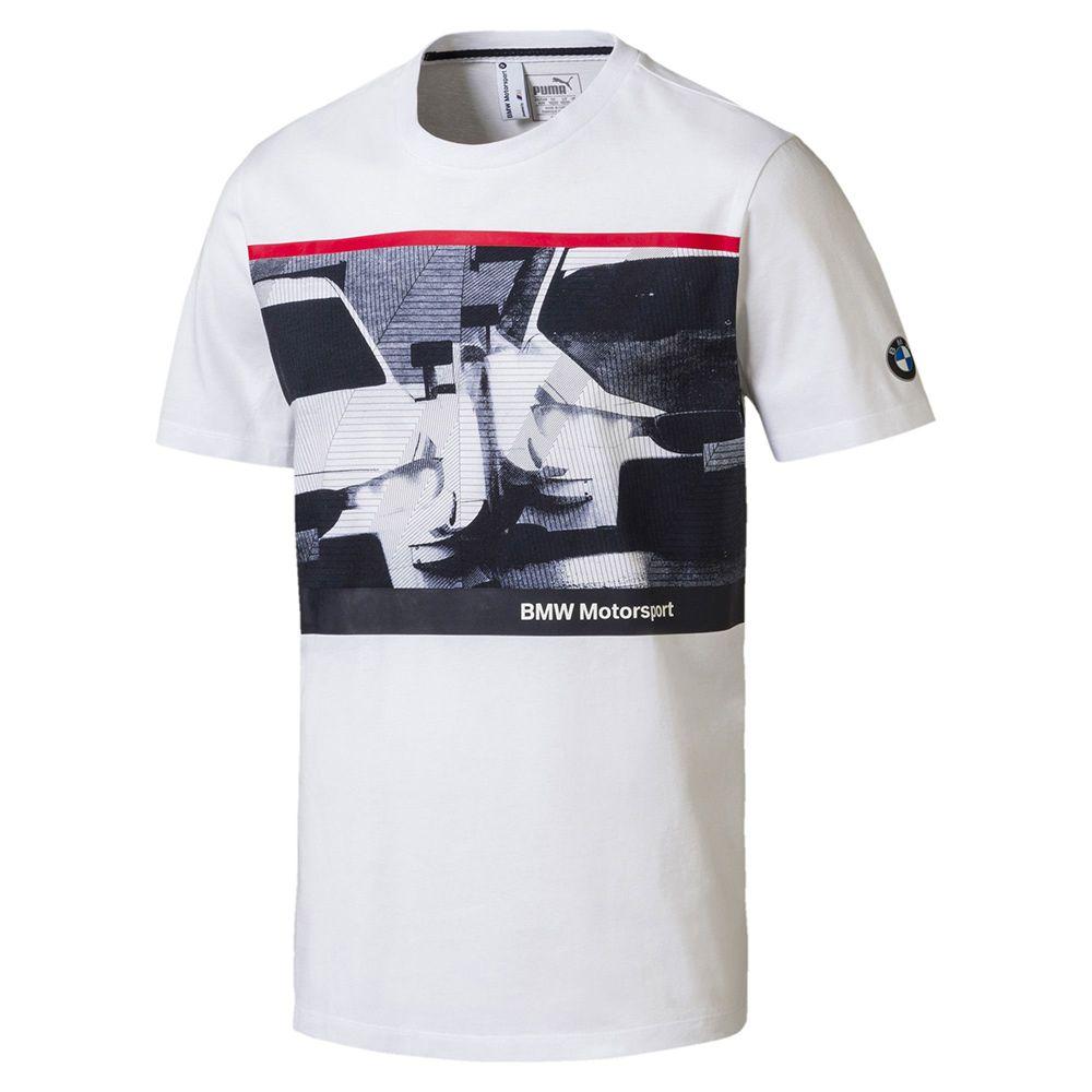 Camiseta BMW Graphic Puma Branca Oficial  - Nova Centro Boutique Roupas para Motociclistas