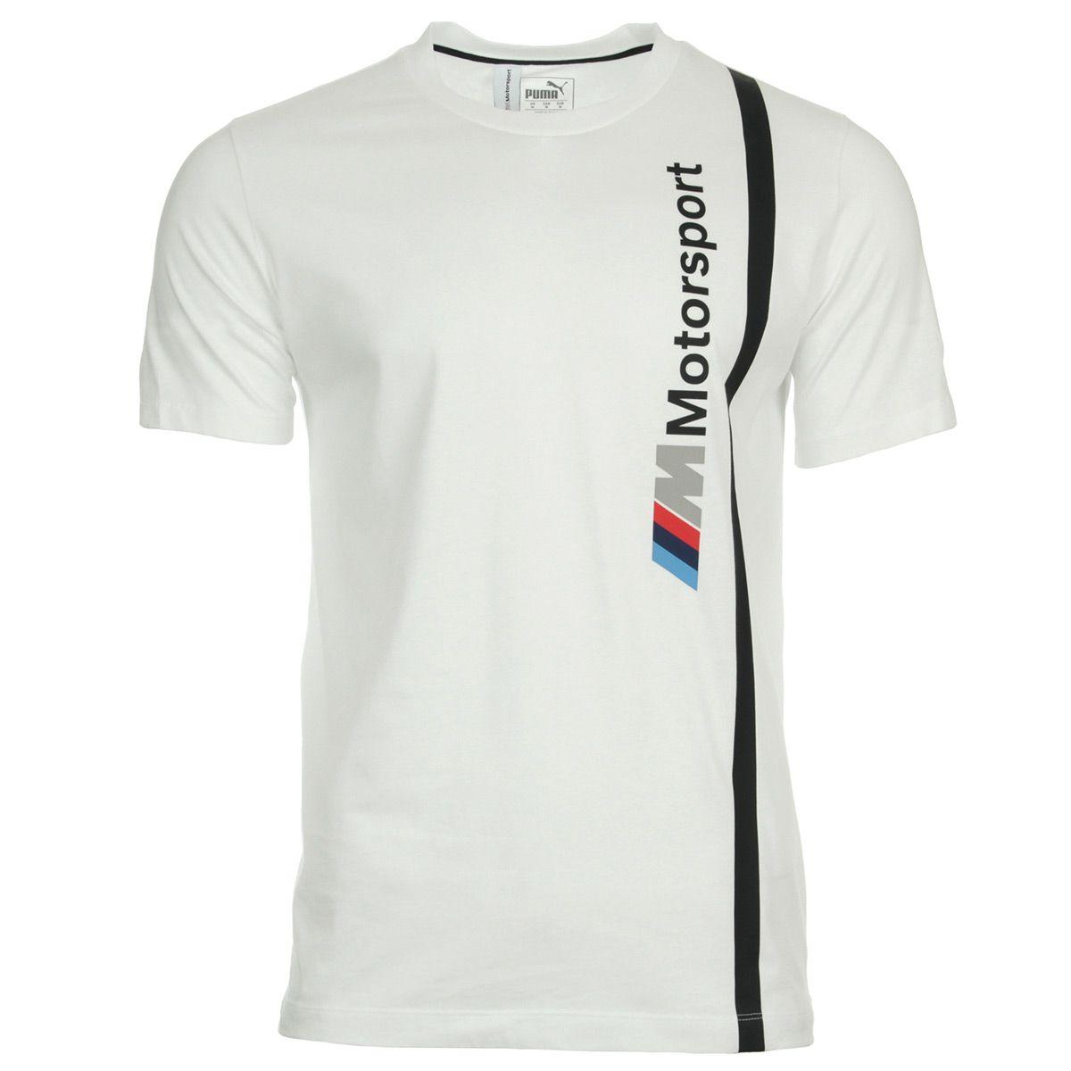 Camiseta BMW MMS Logo Branco  - Nova Centro Boutique Roupas para Motociclistas