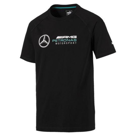 Camiseta Mercedes Logo Puma Preto Oficial  - Nova Centro Boutique Roupas para Motociclistas