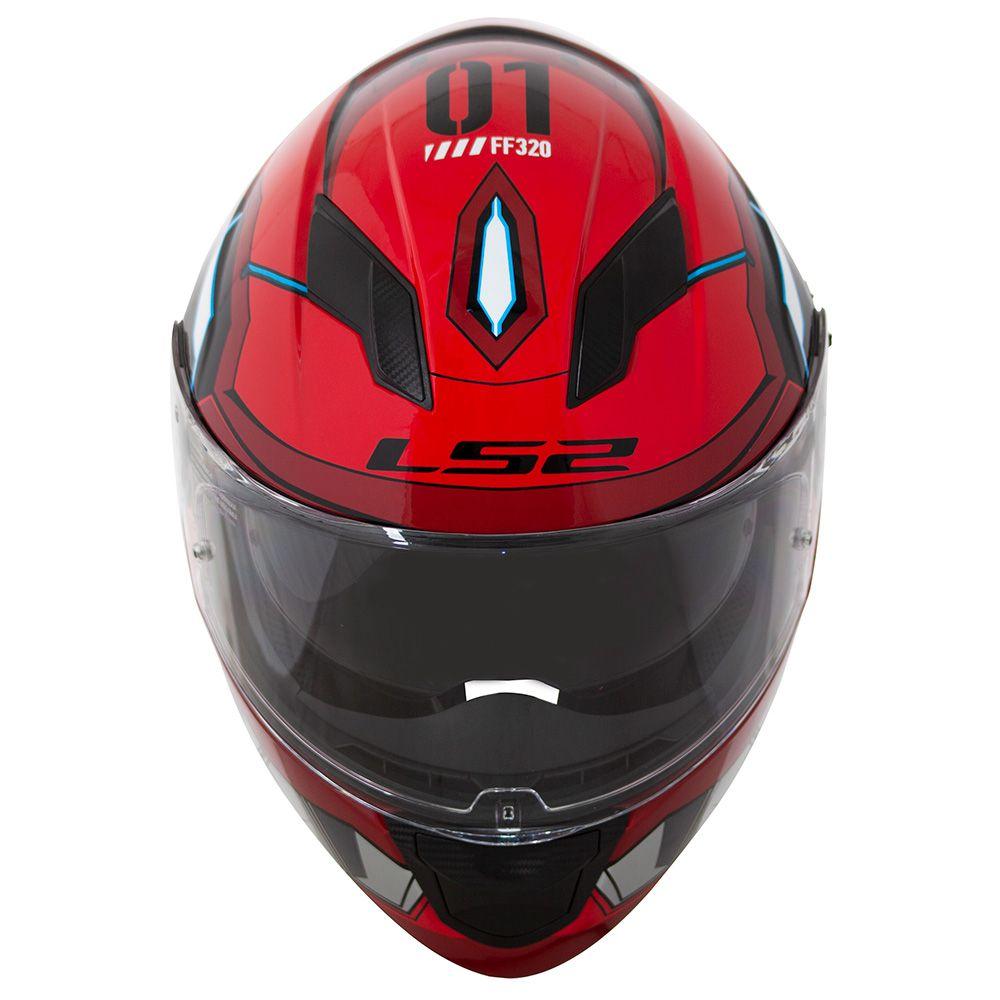 Capacete LS2 FF320 Angel (C/ VISEIRA SOLAR) Vermelho  - Nova Centro Boutique Roupas para Motociclistas