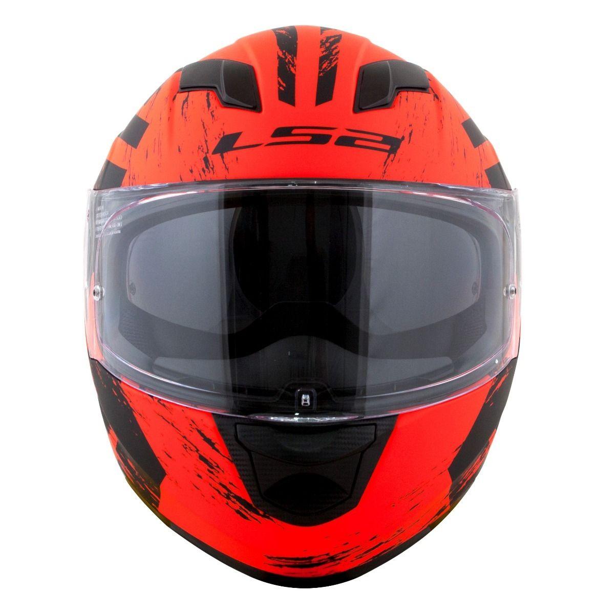 Capacete LS2  FF320 Hunter (C/ VISEIRA SOLAR) Laranja  - Nova Centro Boutique Roupas para Motociclistas