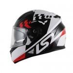 Capacete LS2 FF320 Podium Branco/Preto/vermelho (C/VEISEIRA SOLAR)  - Nova Centro Boutique Roupas para Motociclistas