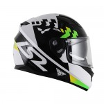Capacete LS2 FF320 Podium Verde/Preto/Branco (C/VISEIRA SOLAR)  - Nova Centro Boutique Roupas para Motociclistas
