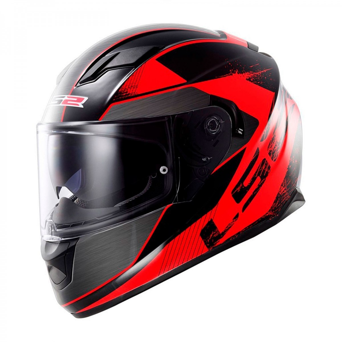 Capacete LS2  FF320 Stinger Black and Red  - Nova Centro Boutique Roupas para Motociclistas