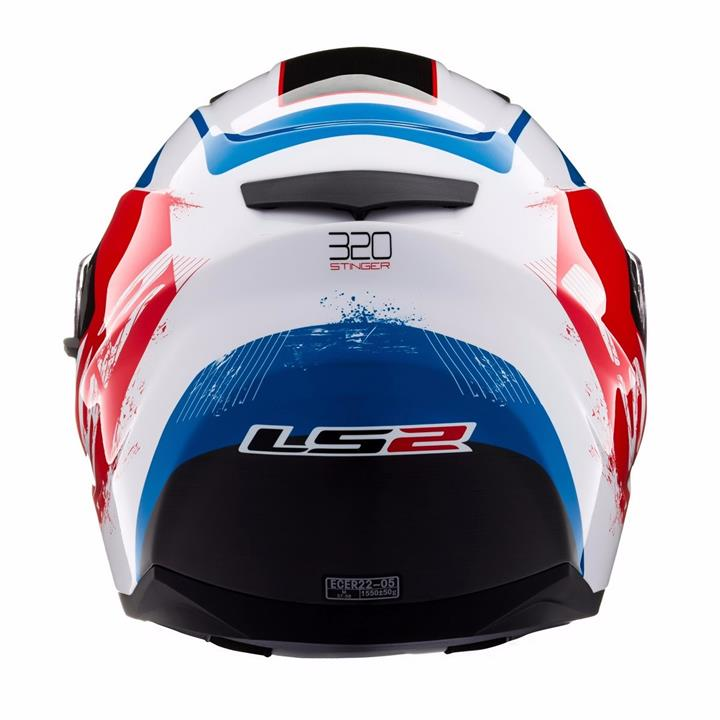Capacete LS2  FF320 Stinger White and Blue  - Nova Centro Boutique Roupas para Motociclistas