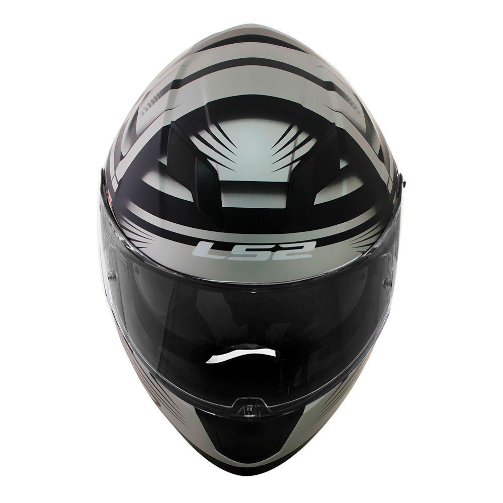 Capacete LS2 FF320 STREAM BANG - Black/Titanium  - Nova Centro Boutique Roupas para Motociclistas