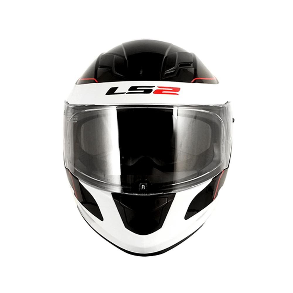 Capacete LS2 FF320 Stream Lunar (Preto/Branco)  - Nova Centro Boutique Roupas para Motociclistas