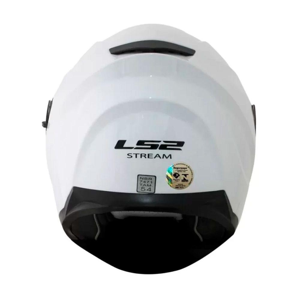 Capacete Ls2 Ff320 Stream Monocolor - Branco  - Nova Centro Boutique Roupas para Motociclistas