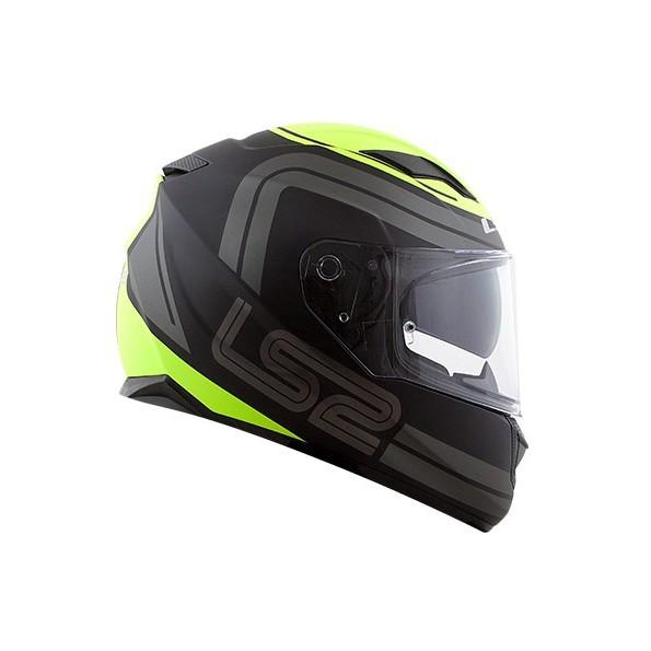 Capacete LS2 FF320 Stream Orbital (Preto/Amarelo)  - Nova Centro Boutique Roupas para Motociclistas