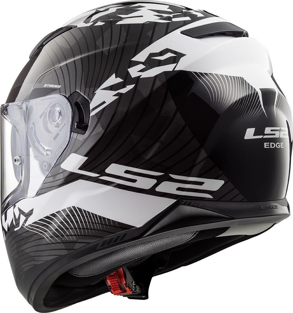 Capacete LS2 FF320 Stream Hype - Preto Fosco / Branco  - Nova Centro Boutique Roupas para Motociclistas