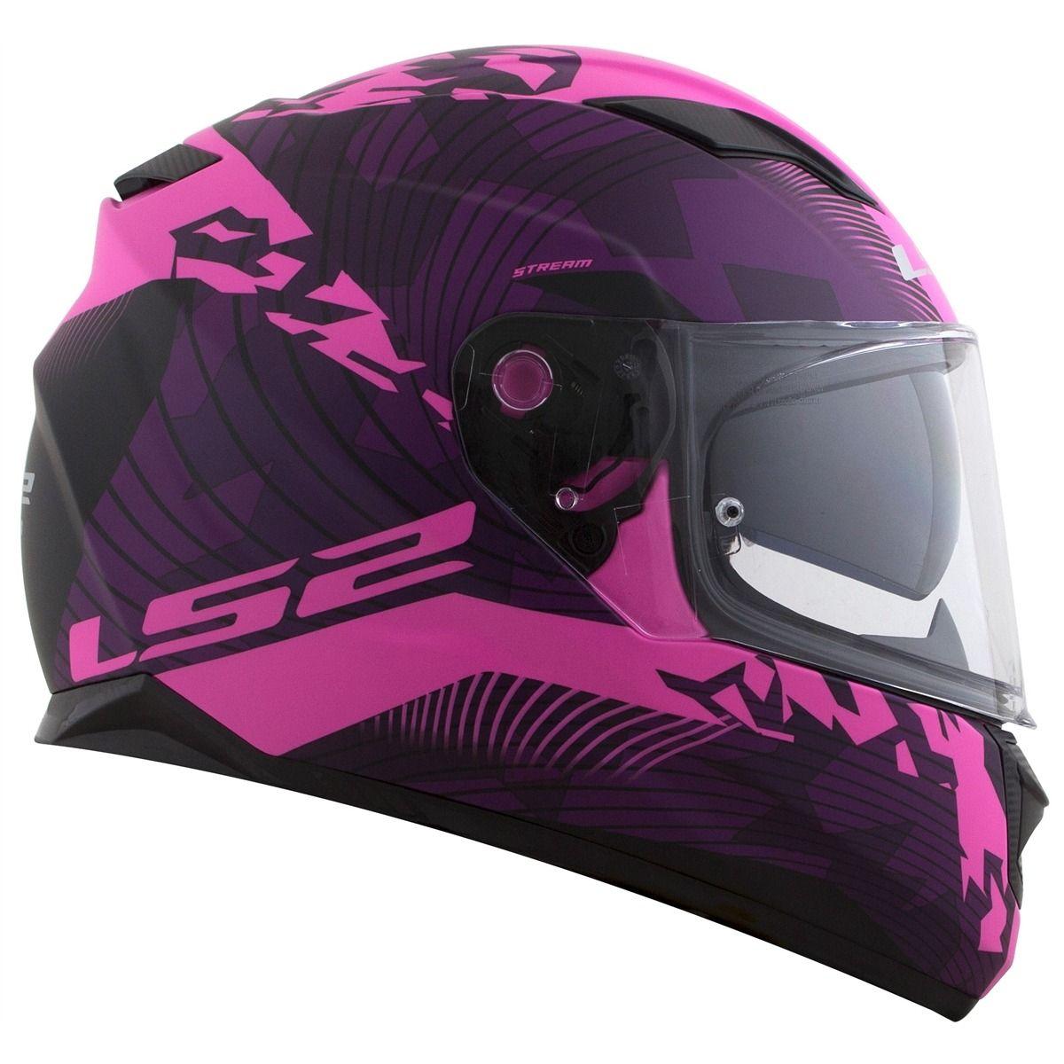 Capacete LS2 FF320 Stream (Rosa)  - Nova Centro Boutique Roupas para Motociclistas