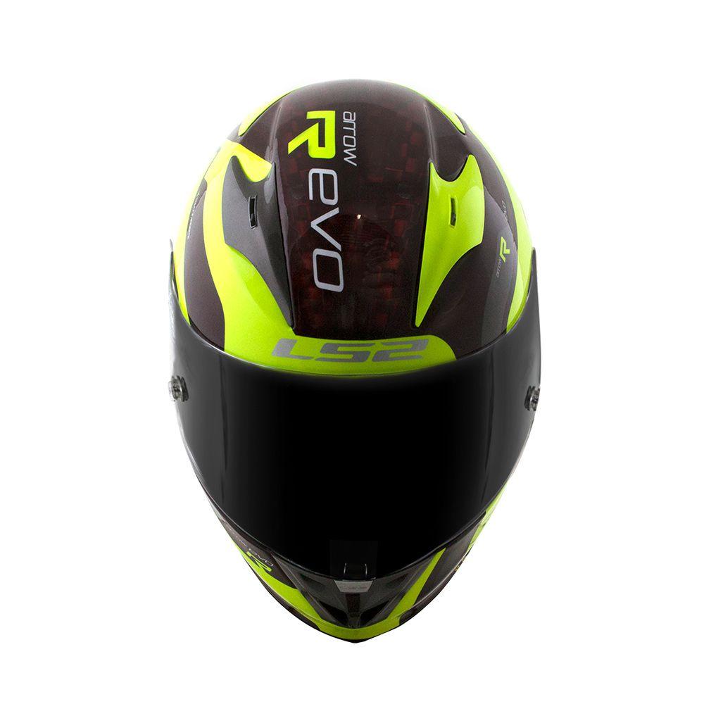 Capacete LS2 FF323 Arrow C Evo Sting - Amarelo / Preto  - Nova Centro Boutique Roupas para Motociclistas
