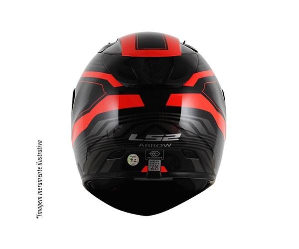 Capacete LS2 FF323 Arrow R Burner Preto/Vermelho  - Nova Centro Boutique Roupas para Motociclistas