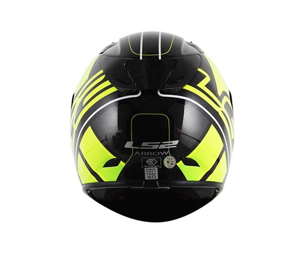 CAPACETE LS2 FF323 Arrow R Ion Preto / Amarelo  - Nova Centro Boutique Roupas para Motociclistas