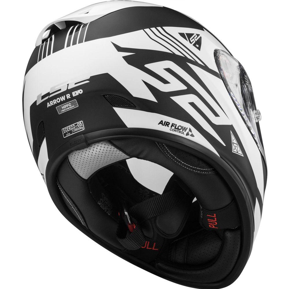 Capacete LS2 FF323 Arrow R Neon - Matte Black/White  - Nova Centro Boutique Roupas para Motociclistas