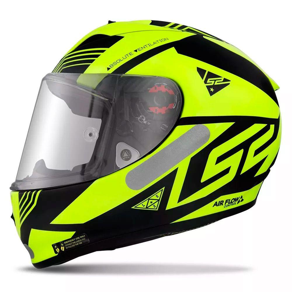 Capacete LS2 FF323 Arrow R Neon - Matte Black Yellow  - Nova Centro Boutique Roupas para Motociclistas