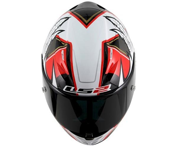 Capacete LS2 FF323 Arrow R  Réplica Yonny Hernandez  Branco / Vermelho  - Nova Centro Boutique Roupas para Motociclistas